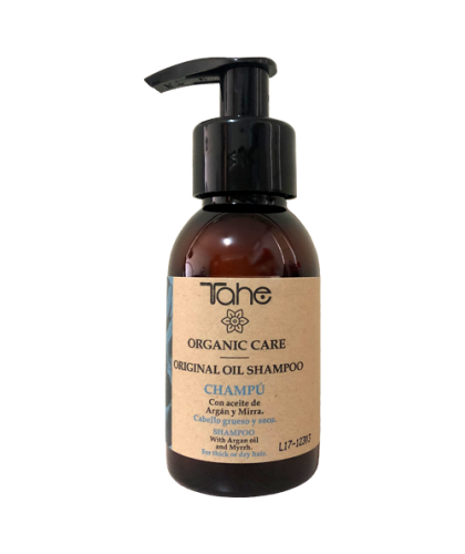 Tahe Organic Care Shampoo Original Oil para cabellos gruesos y secos 100 ml