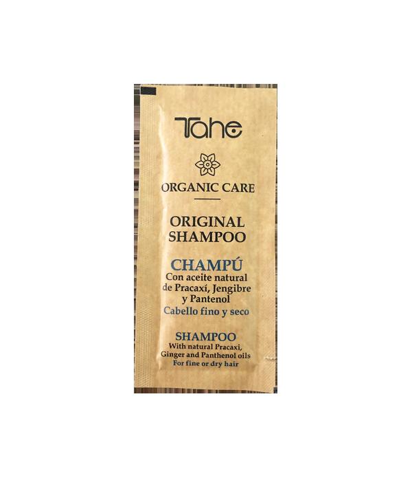 Tahe Organic Care Shampoo Original para cabellos finos y secos 10 ml